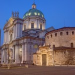 Brescia, oude en nieuwe kathedraal