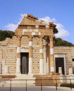Romeinse ruines (capitolium Brescia), Italië